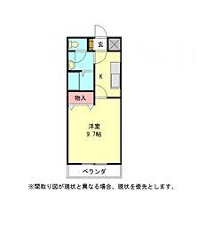 愛知県一宮市長島町1丁目の賃貸アパートの間取り