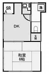 東京都新宿区愛住町の賃貸アパートの間取り