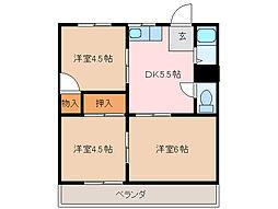 ハイツ中澤[2階]の間取り