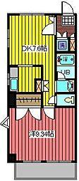 パティオ並木[2階]の間取り