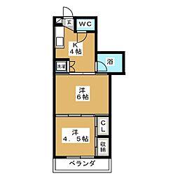 シャングリラ小田原[1階]の間取り