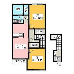 ジョイフルコーポ[2階]の間取り