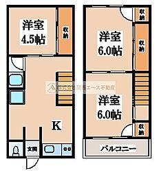 [テラスハウス] 大阪府堺市西区上野芝町2丁 の賃貸【/】の間取り