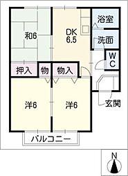 グリーンコートA・B[2階]の間取り