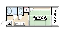 愛知県名古屋市緑区若田2丁目の賃貸アパートの間取り