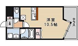 R5コート 1階ワンルームの間取り
