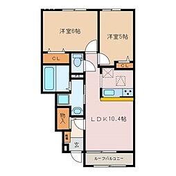 ラーツゥー・デル・マーレB棟[1階]の間取り