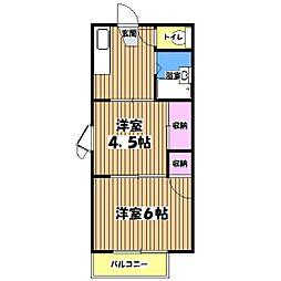 ビューテラスMOTOKI[2階]の間取り