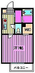 ヒヤシンスハウス[2階]の間取り