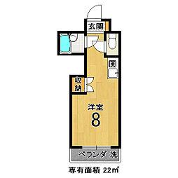 フレーヴァー深草II[3階]の間取り