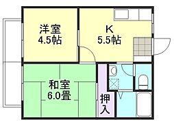 ラクシュリーマンションC棟[2階]の間取り