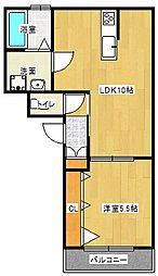 Osaka Metro谷町線 大日駅 徒歩12分の賃貸アパート 3階1LDKの間取り