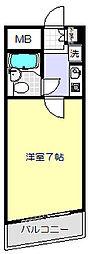 東京都品川区小山6丁目の賃貸マンションの間取り