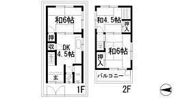 [一戸建] 兵庫県宝塚市小浜3丁目 の賃貸【/】の間取り