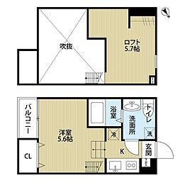 神奈川県相模原市中央区星が丘1丁目の賃貸アパートの間取り