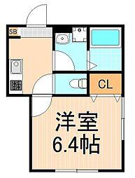 (仮称)西加平2丁目マンション 2階1Kの間取り