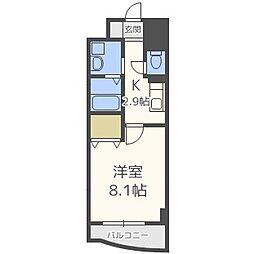 イカルス日本橋[9階]の間取り