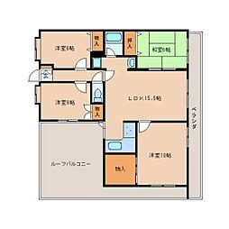静岡県静岡市葵区平和1丁目の賃貸マンションの間取り