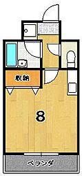 カワモトマンション[304号室]の間取り