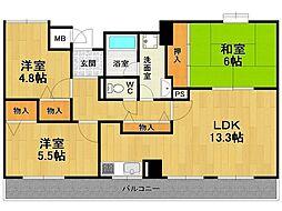 ピアカーサ西台[3階]の間取り