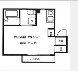 神奈川県横浜市南区高根町4丁目の賃貸アパートの間取り