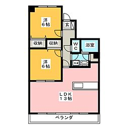 クレール新屋敷[2階]の間取り