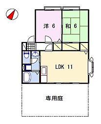 サンビレッジ阿成[1階]の間取り