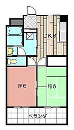 クローバージャパンビル[406号室]の間取り