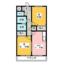 グリーンメゾン加藤[2階]の間取り