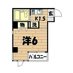 コパーズアプト鶴ヶ峰[104号室]の間取り