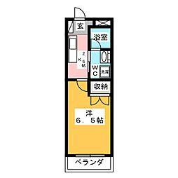 メゾンDICO 3階1Kの間取り