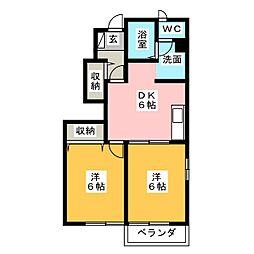 メゾン・ディオールA[2階]の間取り