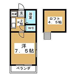 ハイツ・ピアIII[2階]の間取り