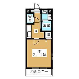 メゾン・ド・きぬかけ[2階]の間取り