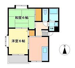 愛知県名古屋市中村区猪之越町2丁目の賃貸マンションの間取り