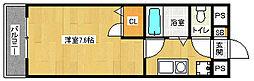 京都府京都市中京区常真横町の賃貸マンションの間取り