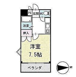 竜美丘シャイン 1階[102号室]の間取り