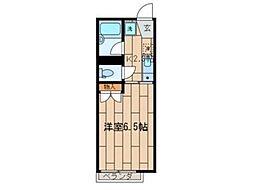 ハイツ向の岡[1階]の間取り