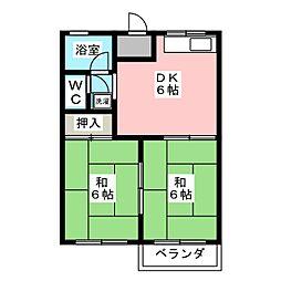 フォーブル古庄B[2階]の間取り