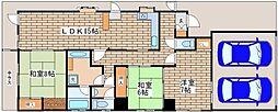 兵庫県神戸市須磨区東町3丁目の賃貸マンションの間取り
