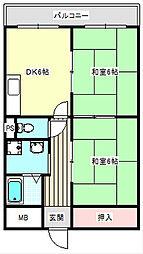 ハイネスライフ住之江[102号室]の間取り