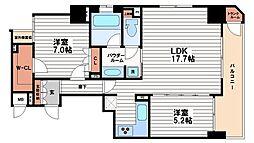リーガル北心斎橋2[10階]の間取り