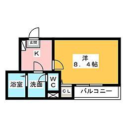 クレフラスト和田町[2階]の間取り