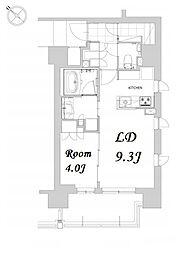 都営浅草線 人形町駅 徒歩12分の賃貸マンション 5階1LDKの間取り