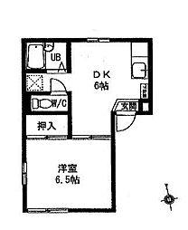 シャトーヤベ[1階]の間取り