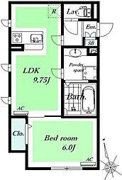 仮称)D-room府中市緑町[302号室]の間取り