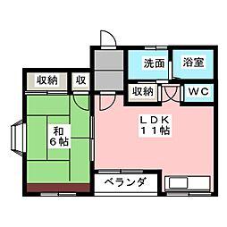 ホワイトハイム[1階]の間取り
