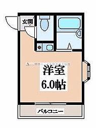 プレアール瓢箪山[1階]の間取り