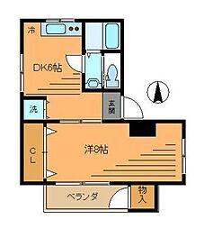 チサンマンション中延[4階]の間取り