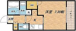 プレジオ南堀江[4階]の間取り